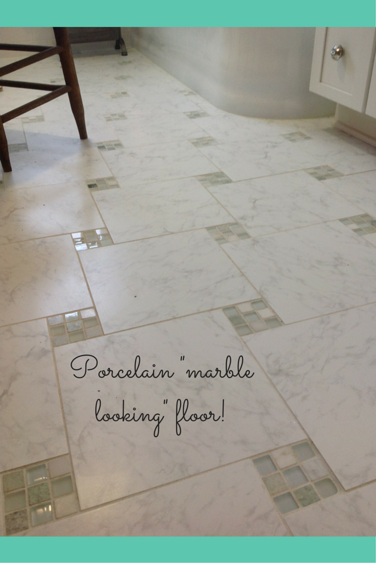 Porecelain tile for a marble looking floor in cleveland ohio