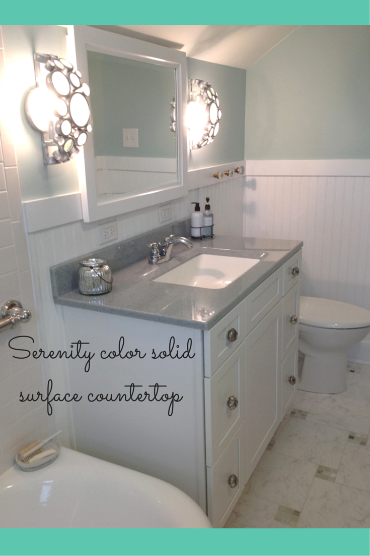 Serenity color solid surface countertop
