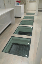 Structural Glass Floor panels to connect inside and outside spaces