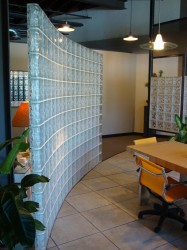 glass block room divider