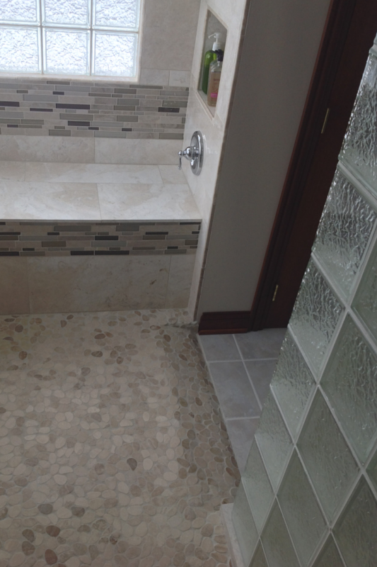 Aging in place with barrier free ready for tile roll in shower base