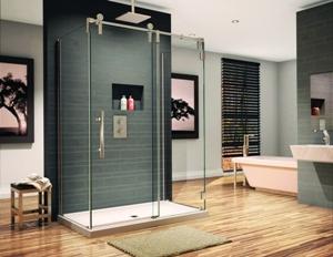 Fleurco sliding shower door