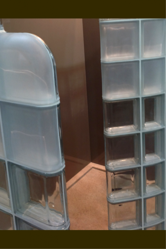 Modern see through and frosted glass blocks