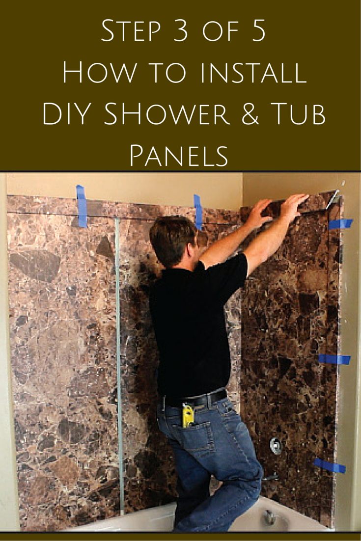 5 steps to install decorative DIY shower and tub wall panels