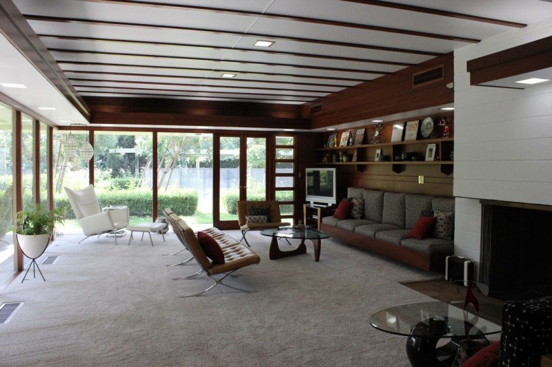 Usonian Frank Lloyd Wright Home in Fresno California after Restoration