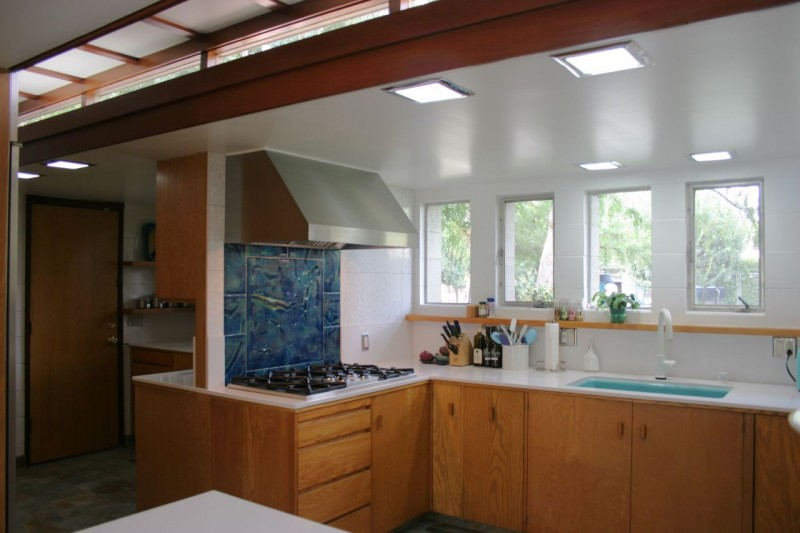 Kitchen remodel in Usonian Frank Lloyd Wright Home in Fresno California