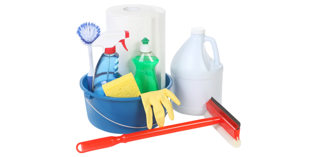 Cleaning supplies for grout joints