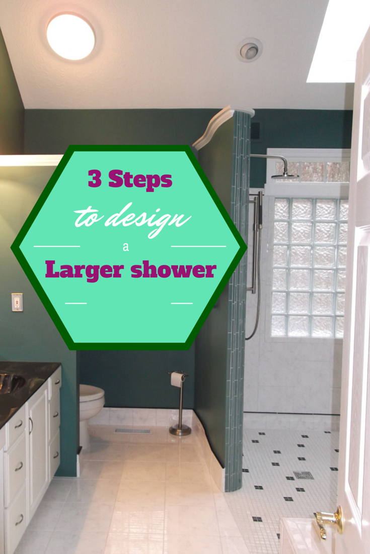 How to make a large shower even in a smaller bathroom space | Innovate Building Solutions