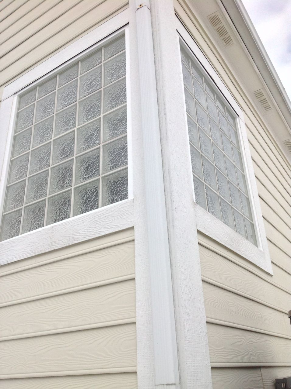 How to install a glass block shower window for Exterior framing