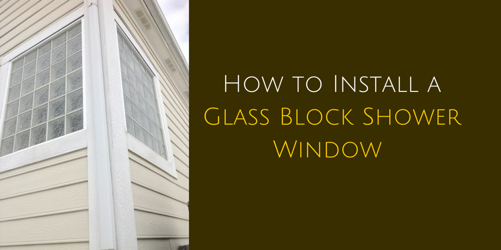 How to Install a Glass Block Shower v3