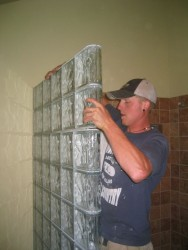 Tip 6 thinner blocks being installed