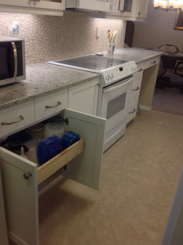 Pull out drawers in a galley style kitchen lakewood ohio