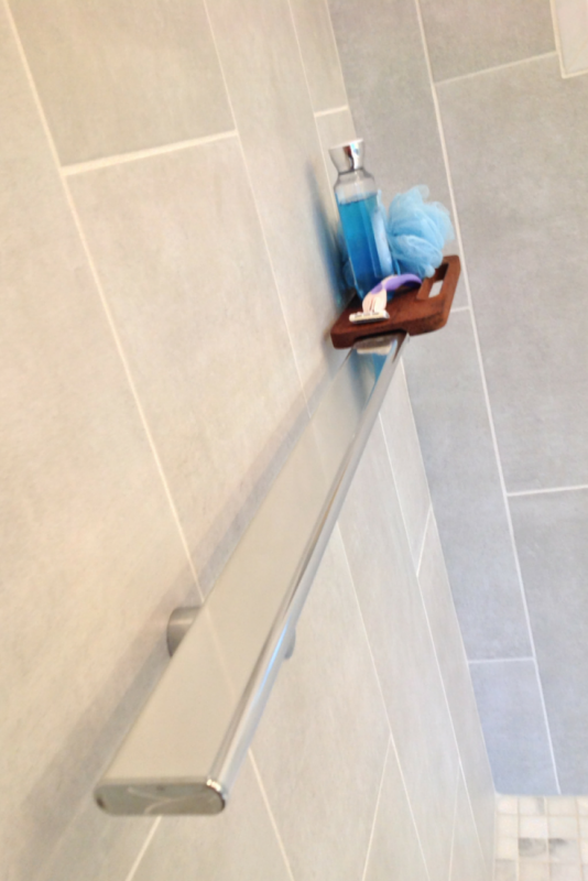 Shower support and storage bar in Kohler Choreograph series
