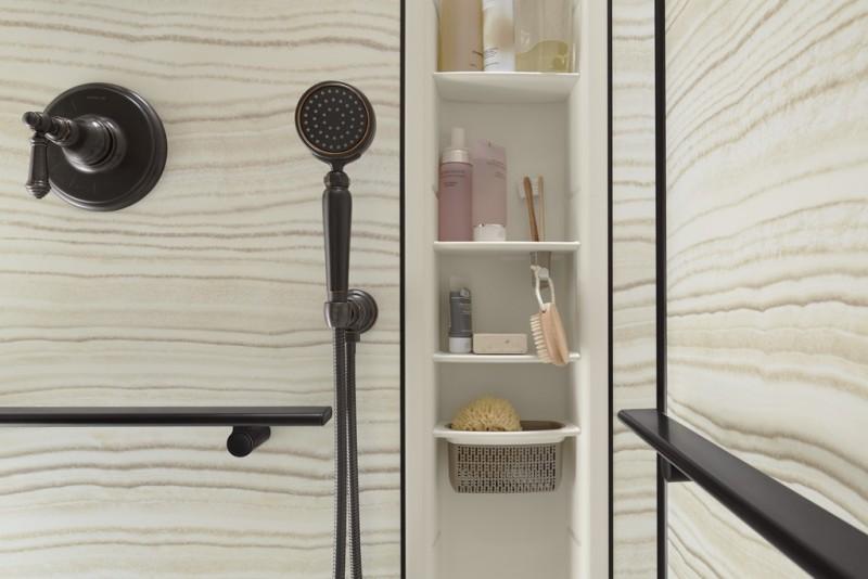 Luxury shower locker by Kohler improves storage