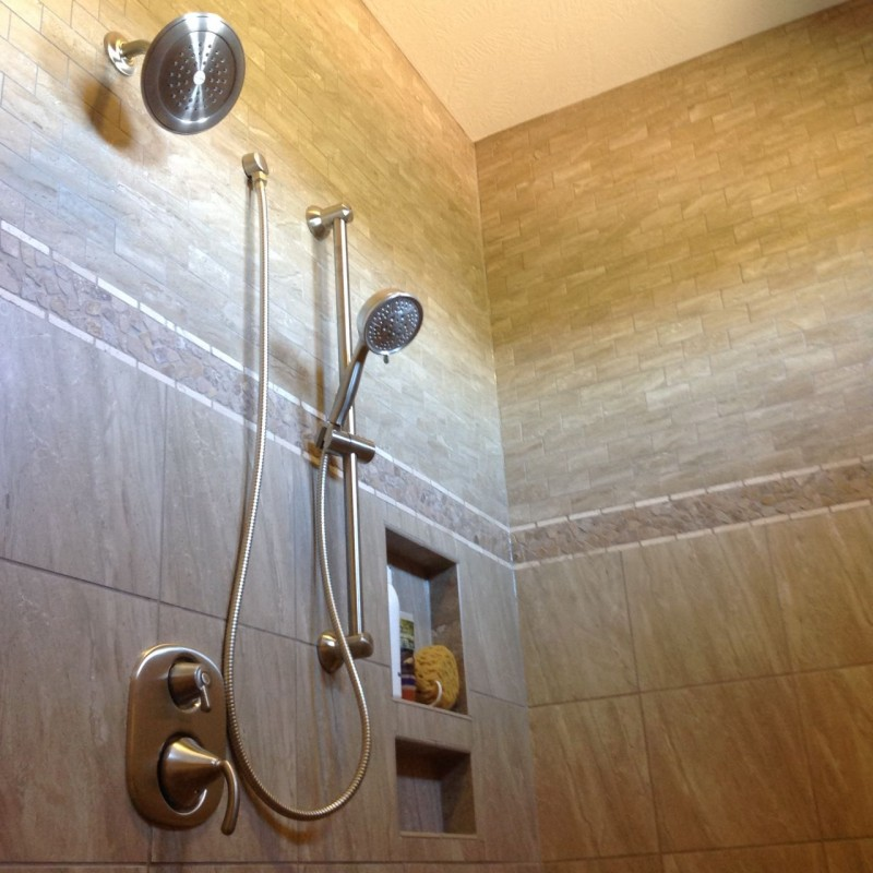 Bathroom trends Parade of Homes in columbus 2015 tiled shower