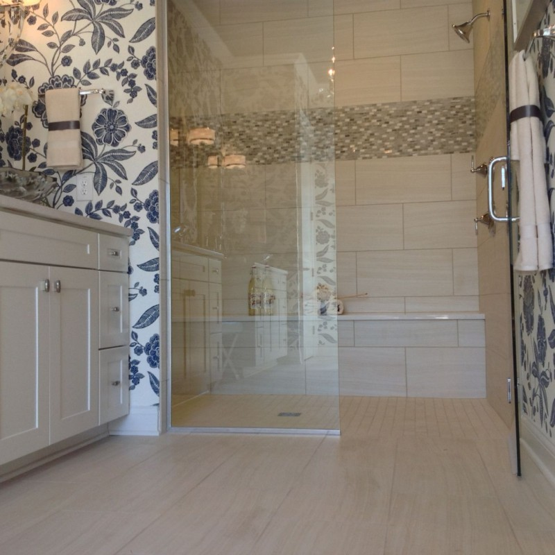 one level shower at columbus parade of homes