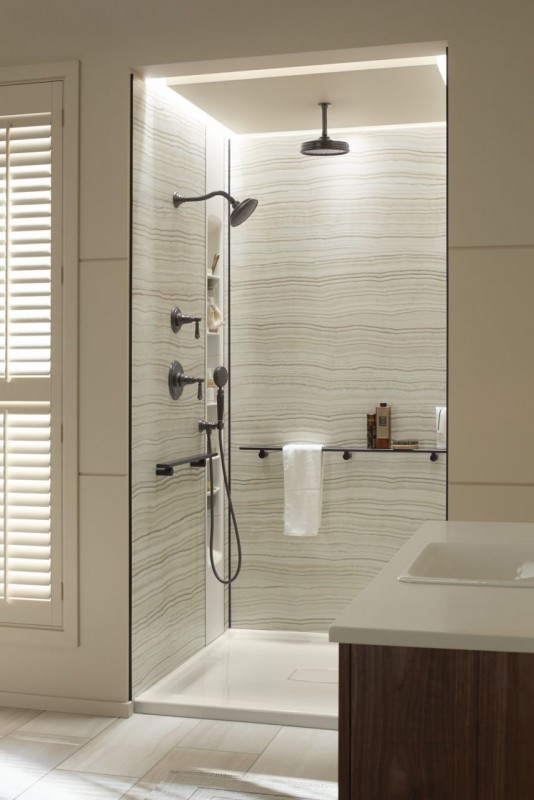 luxury grout free shower panels