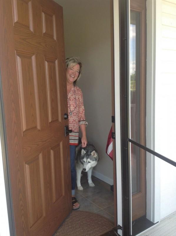Fiberglass front entry door in Carrol Ohio