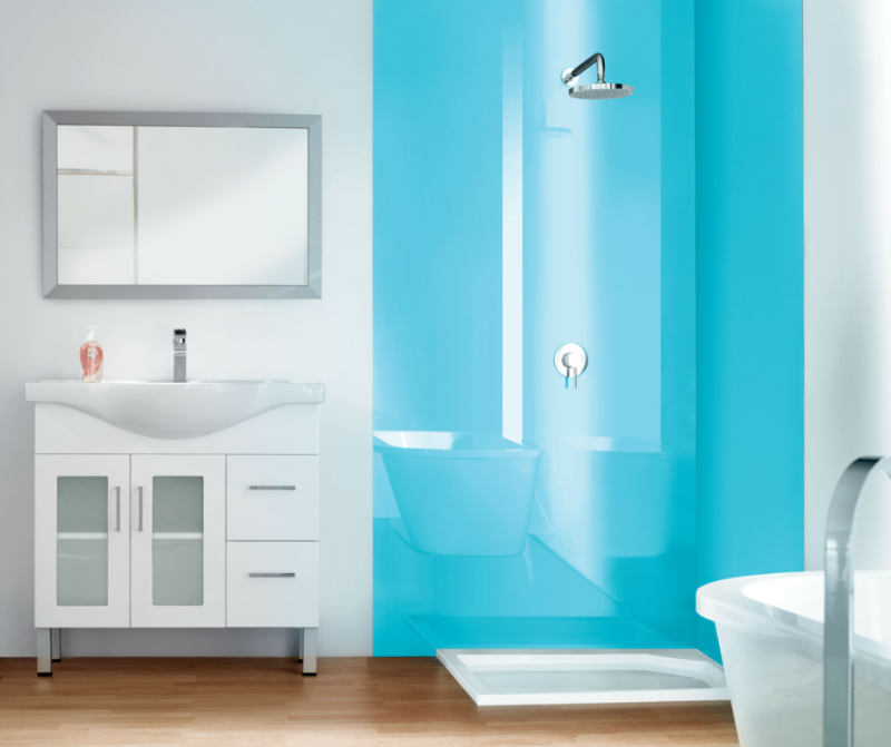 Optical grade high gloss acrylic wall panels which look like backpainted glass   Innovate Building Solutions