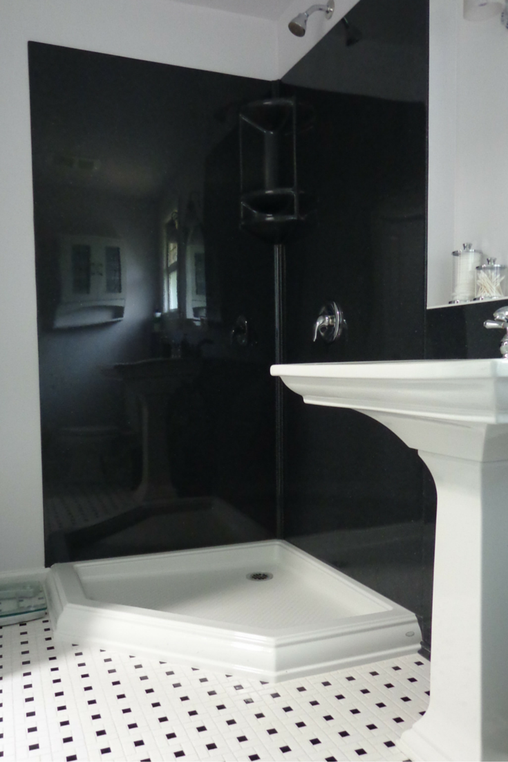 Are shower wall panels cheaper than tile 7 factors you need to know stone solid surface wall panels in a black color tyukafo