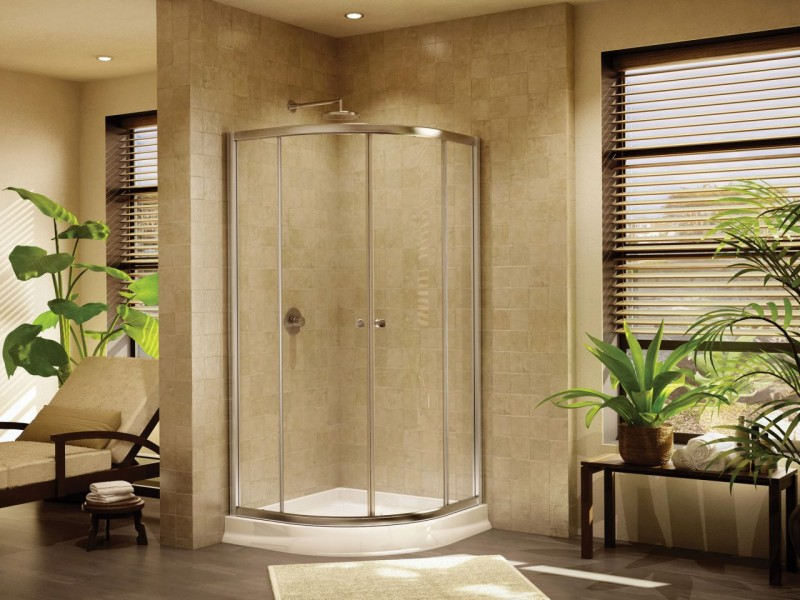 """36"""" round shower base for a tiny home or houseboat shower"""
