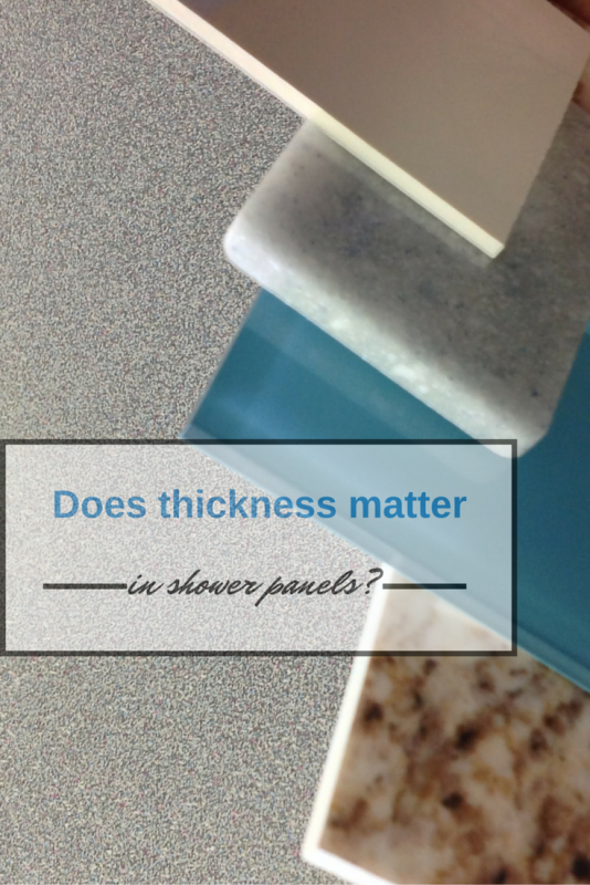 Does shower wall panel thickness matter