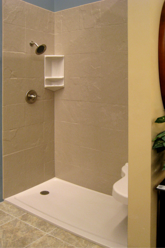 "3/8"" thick solid surface stone shower wall panels"