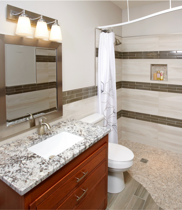 Small Bathroom 5 X 7 7 myths about one level (curbless) showers