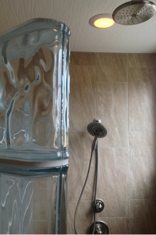 Thinner glass blocks for more room in a shower