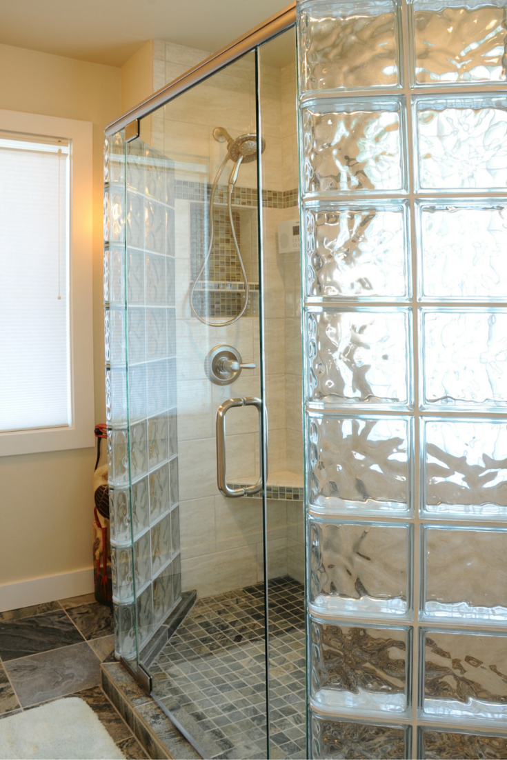 7 myths about glass block showers for Glass block window bathroom