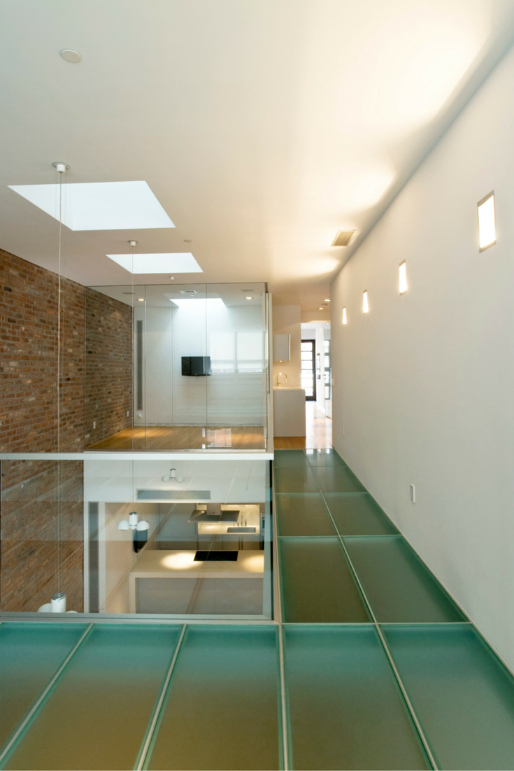 Obscure glass floor for privacy