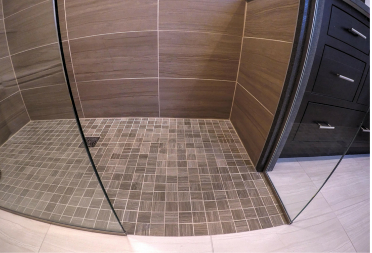Advantages And Disadvantages Of A Curbless Walk In Shower Enchanting Bathroom Partition Panels Remodelling