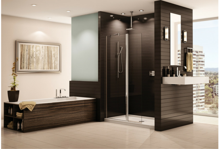 Advantages and Disadvantages of a Curbless Walk in Shower on waterfall shower design, ada shower design, zero entry bathtubs, zero barrier shower, zero threshold shower, zero entry spa,