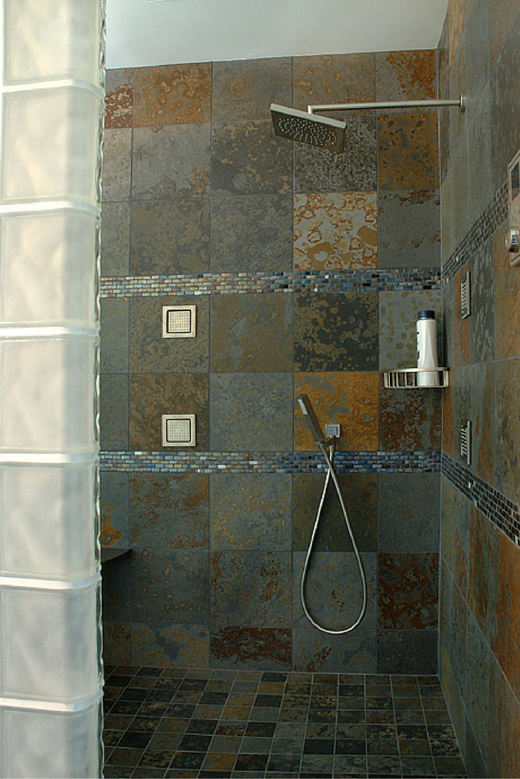 Rain Shower Heads Work Well For Curbless Walk In Showers | Innovate  Building Solutions
