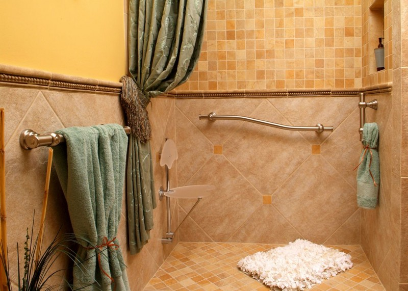 Decorative grab bar accessory for a bathroom | Innovate Building Solutions