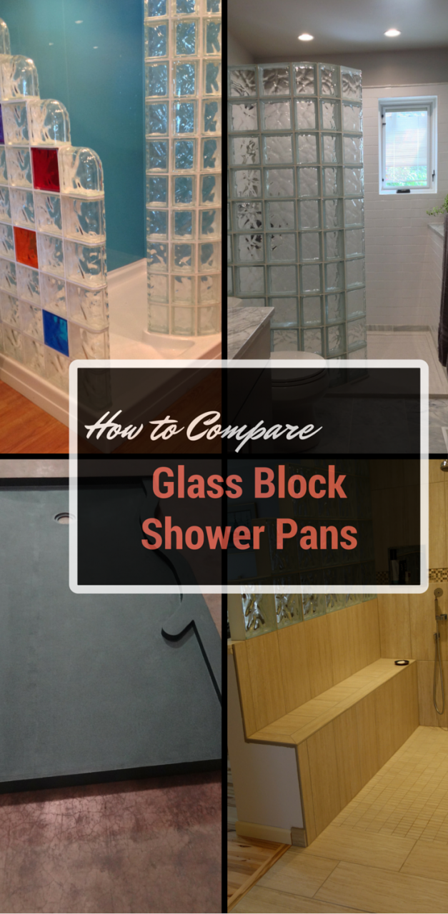 how to compare glass block shower pans