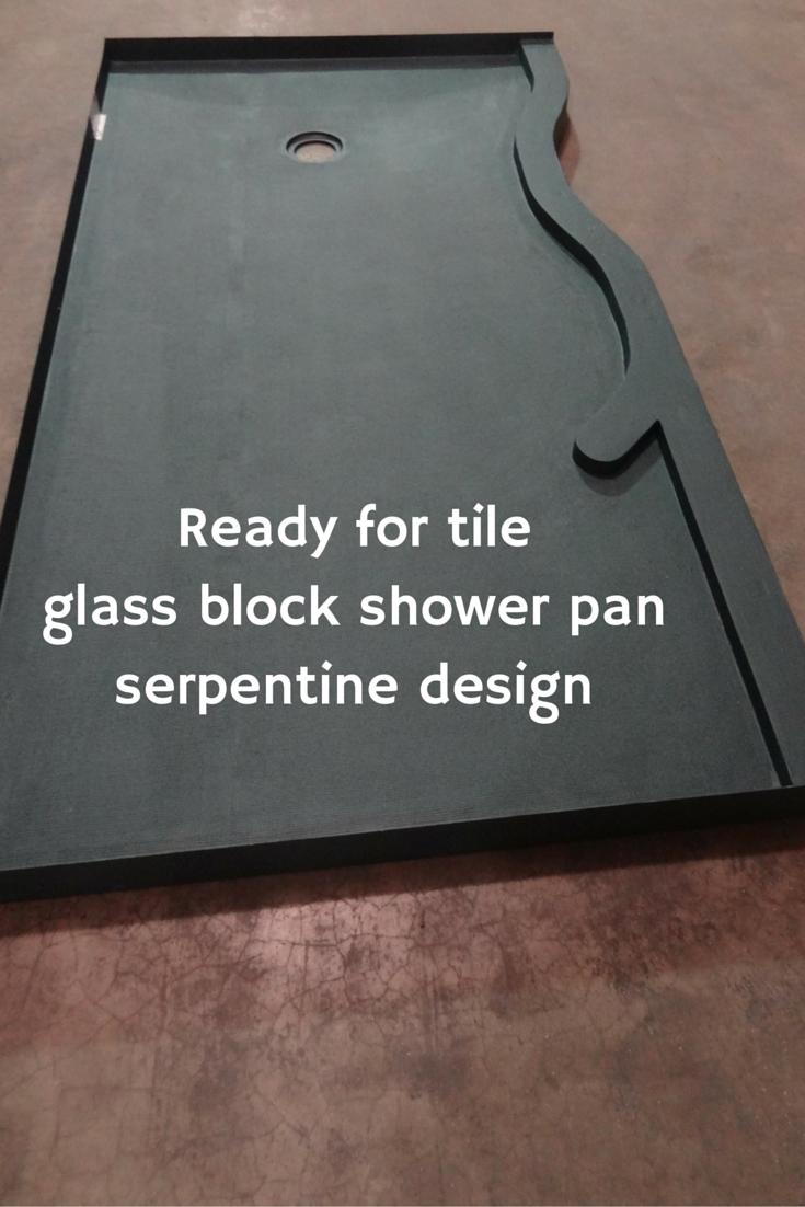 Ready for tileglass block shower panserpentine design