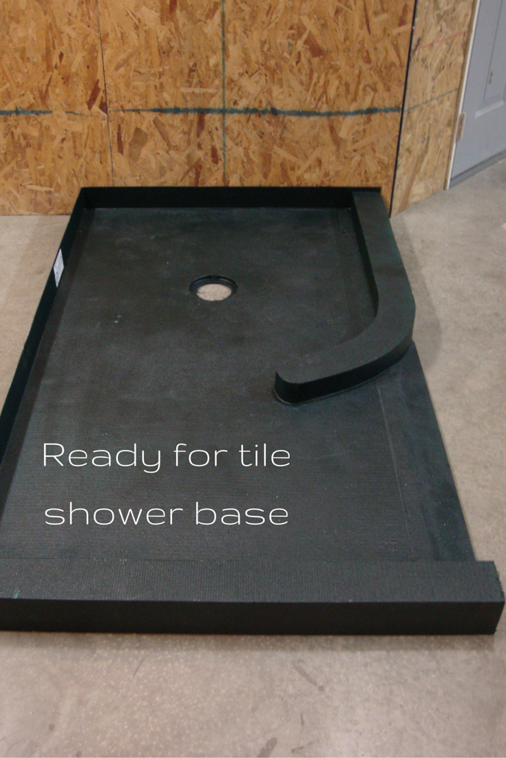 Ready for tile shower base for a custom shower | Innovate Building Solutions