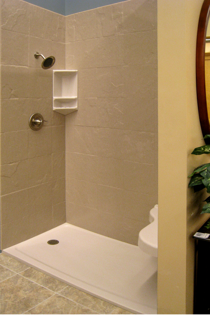 Stone solid surface shower pan | Innovate Building Solutions