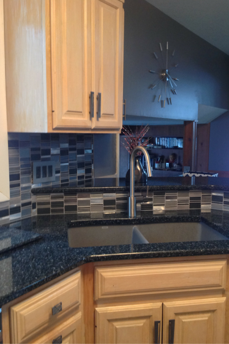 Cambria flint color kitchen counters in Fairview Park remodeling project