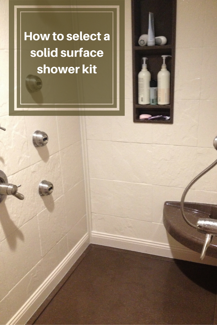 How to select a stone solid surface shower kit - Walk in shower base kit ...