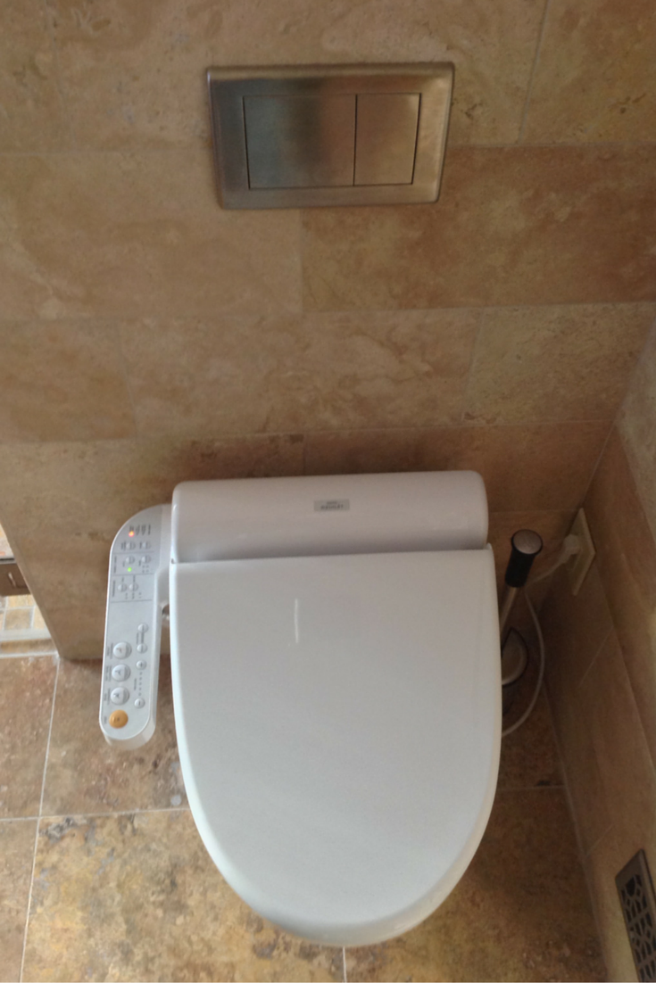 A Toto washlet combined toilet and bidet
