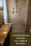 A small bathroom becomes big, bright and beautiful
