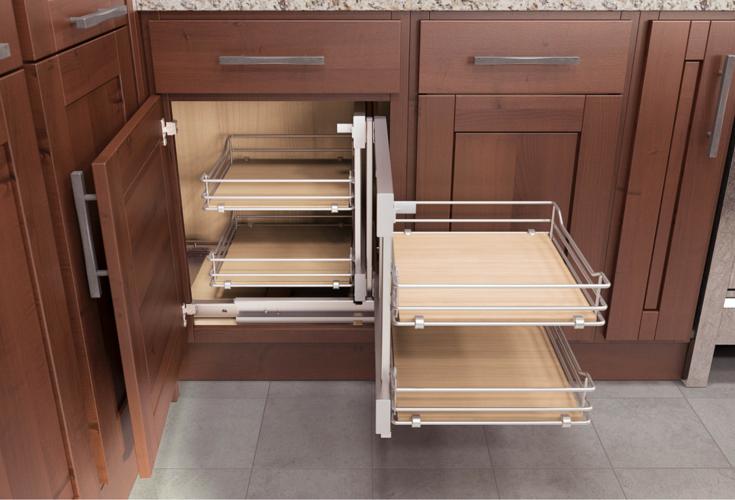 Flex corner flexible kitchen cabinet storage unit