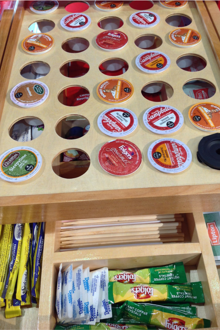 Rev-A-Shelf inside kitchen cabinet storage for K cups
