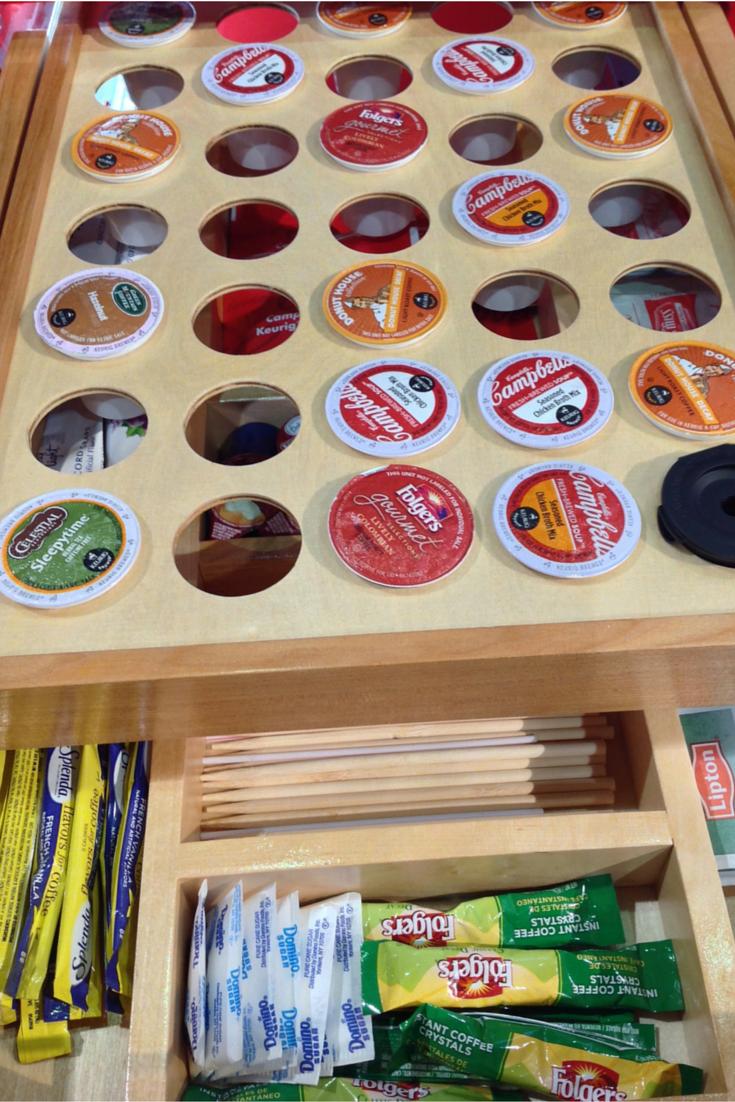 Rev-A-Shelf inside kitchen cabinet storage for K cups