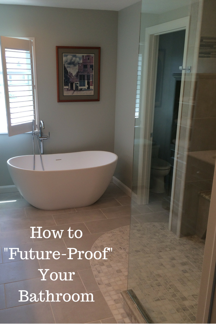 How to future proof your bathroom to be waterproof and assist aging in place