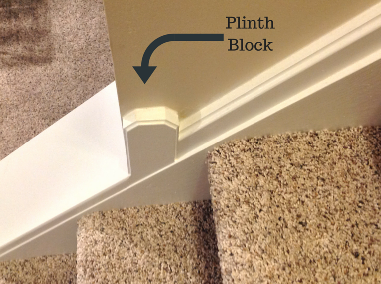 plinth block in a university heights remodeling project