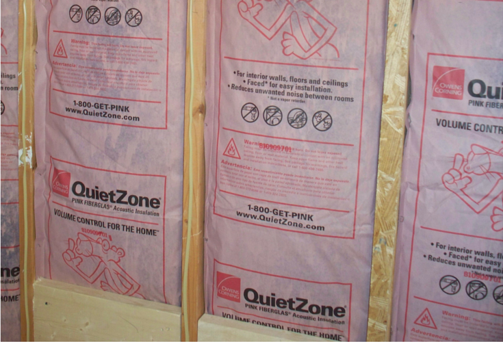 Insulation In A Cleveland Bathroom Remodel Before The Wall Board Is Added