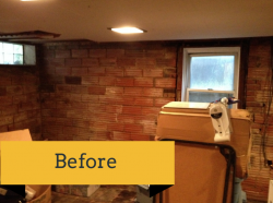 Before remodeling of a university heights basement